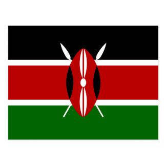 Flagge von Kenia-Postkarte Postkarte