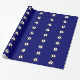 Flagge von Kentucky deckte Muster mit Ziegeln Geschenkpapier