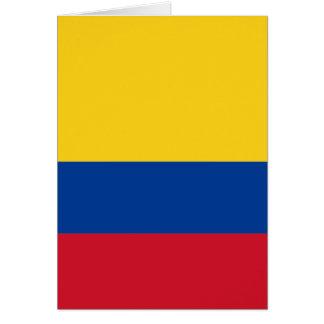 Flagge von Kolumbien Karte