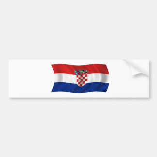 Flagge von Kroatien Autoaufkleber