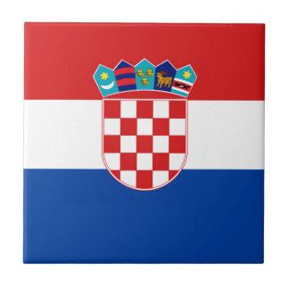 Flagge von Kroatien Fliese