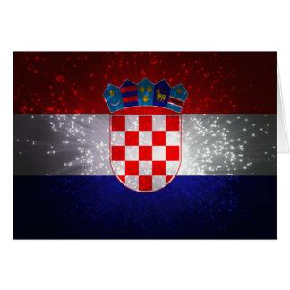 Flagge von Kroatien Mitteilungskarte