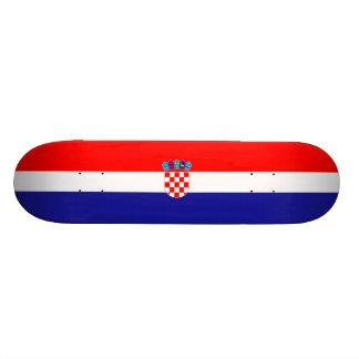 Flagge von Kroatien-Skateboard Skateboardbretter