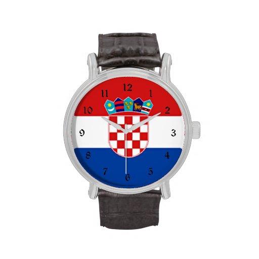 Flagge von Kroatien Armbanduhr