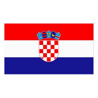 Flagge von Kroatien-Visitenkarten