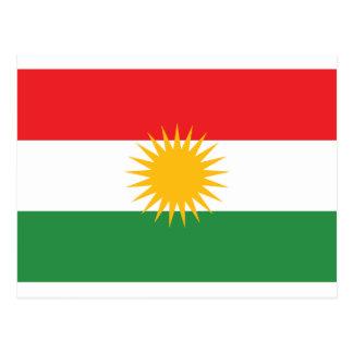Flagge von Kurdistan (Alay Kurdistan oder Alaya Postkarte