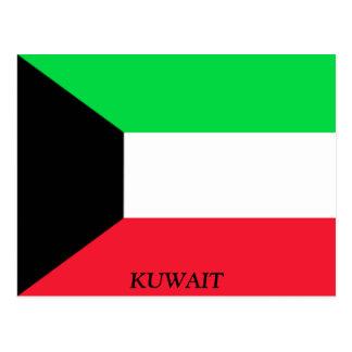 Flagge von Kuwait Postkarte