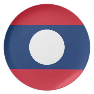 Flagge von Laos - laotianische Flagge - ທຸງຊາດລາວ Melaminteller