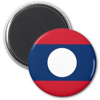 Flagge von Laos - laotianische Flagge - ທຸງຊາດລາວ Runder Magnet 5,1 Cm