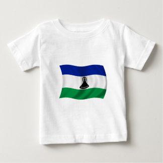 Flagge von Lesotho Baby T-shirt