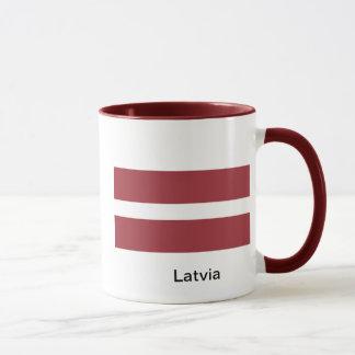 Flagge von Lettland Tasse