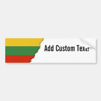 Flagge von Litauen Autoaufkleber