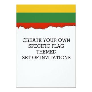 Flagge von Litauen Karte