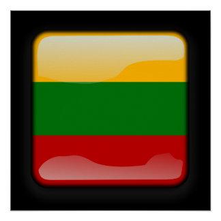 Flagge von Litauen Poster