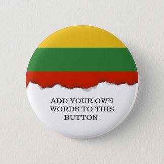 Flagge von Litauen Runder Button 5,7 Cm