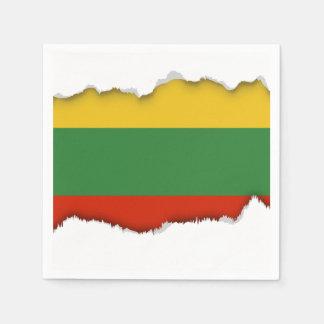 Flagge von Litauen Serviette
