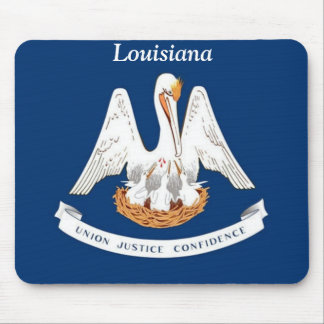 Flagge von Louisiana Mauspads