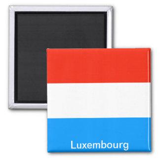 Flagge von Luxemburg Quadratischer Magnet