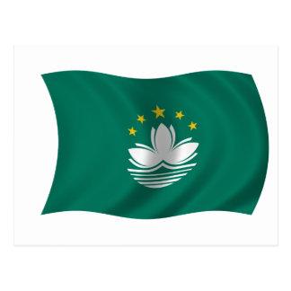 Flagge von Macao Postkarte