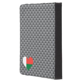 Flagge von madagassischem auf Metallhintergrund