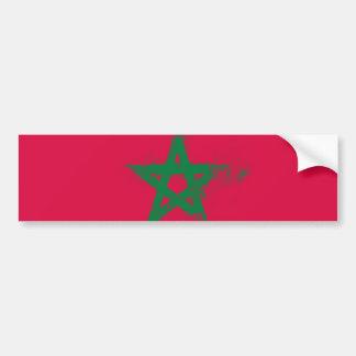 Flagge von Marokko Autoaufkleber