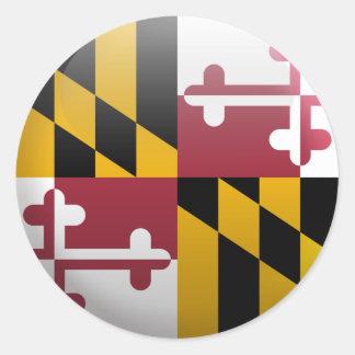 Flagge von Maryland Runder Aufkleber