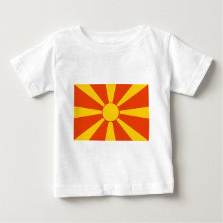 Flagge von Mazedonien Baby T-shirt