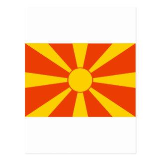 Flagge von Mazedonien Postkarte