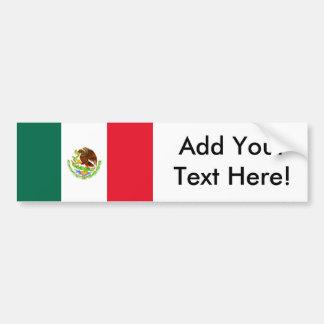 Flagge von Mexiko Autoaufkleber