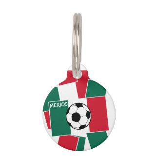 Flagge von Mexiko-Fußball Tiernamensmarke