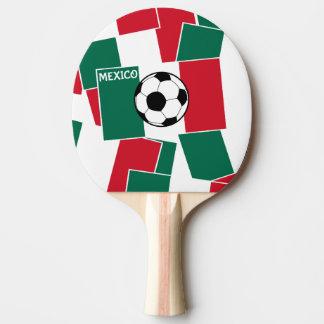 Flagge von Mexiko-Fußball Tischtennis Schläger