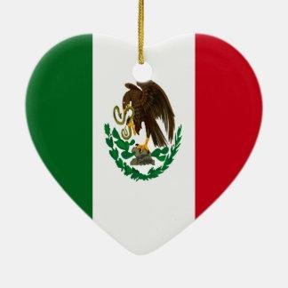 Flagge von Mexiko Keramik Herz-Ornament