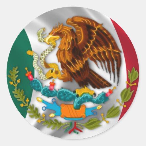 Flagge von Mexiko, Wappen Runder Aufkleber