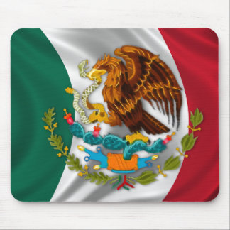 Flagge von Mexiko Wappen Mousepads
