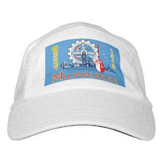 Flagge von Milwaukee, Wisconsin Headsweats Kappe