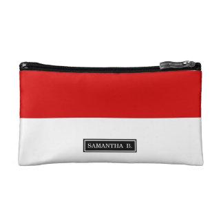 Flagge von Monaco Kosmetiktasche