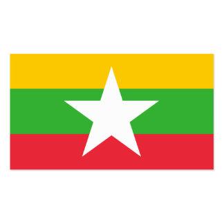 Flagge von Myanmar-Visitenkarten Visitenkarten