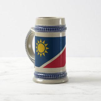 Flagge von Namibia Bierkrug