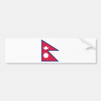 Flagge von Nepal Autoaufkleber