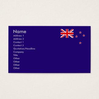 Flagge von Neuseeland Visitenkarte