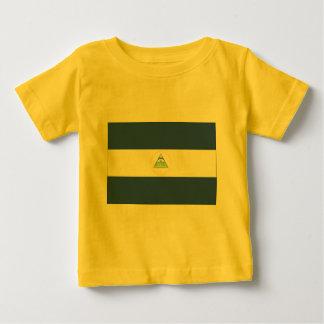 Flagge von Nicaragua Baby T-shirt
