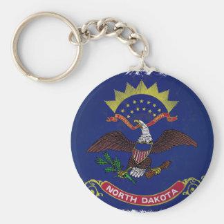 Flagge von North Dakota Schlüsselanhänger