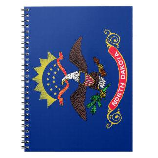 Flagge von North Dakota Spiral Notizblock