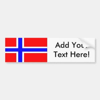 Flagge von Norwegen Autoaufkleber