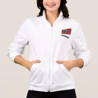 Flagge von Norwegen, fertigen kundenspezifisch an Jacke