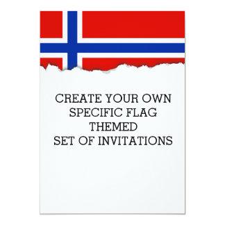 Flagge von Norwegen Karte