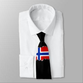 Flagge von Norwegen Krawatte