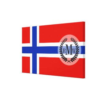 Flagge von Norwegen Leinwanddruck