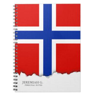 Flagge von Norwegen Notizblock