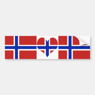 Flagge von Norwegen-Skandinavier Autoaufkleber